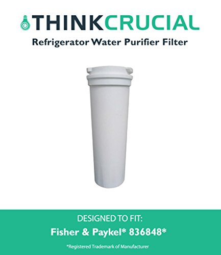 High Quality Fisher and Paykel, Part 836848, Premium Filtration, Refrigerator Water Purifier Filter, Fits E402B, E442B, E522B and RF90A180DU, by Think Crucial