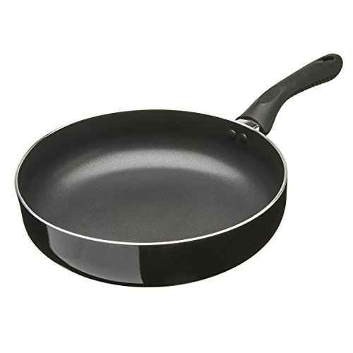 Ecolution Artistry Non-Stick Deep Chef Pan - Eco-Friendly PFOA Free Hydrolon Non-Stick - Pure Heavy-Gauge Aluminum with a Soft Silicone Handle - Dishwasher Safe - Black - 11
