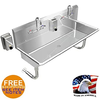 Amazon.com: HAND SINK INDUSTRIAL MULTISTATION 2 WASH UP BASIN 48 ...
