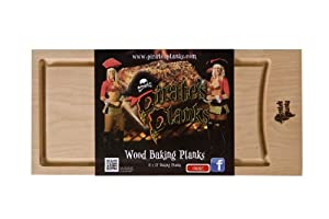 Pirate's Planks Reuseable Baking Plank -Oak 7/8x8x17 from Pirates Planks