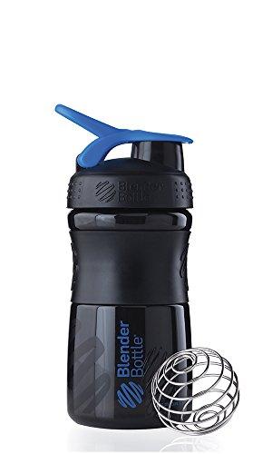 Blenderbottle Sportmixer 20-Ounce, Black/Blue