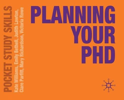 Planning Your PhD (Pocket Study Skills)