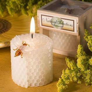 Honeycomb Candles: Unique Beeswax Wedding Favor