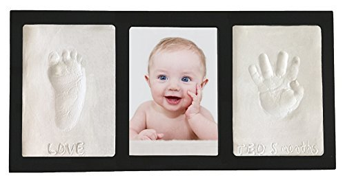 Casting Keepsakes Clay Handprint & Footprint Keepsake Photo Wall Frame Black