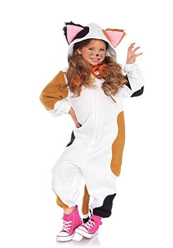 Leg Avenue Children's Calico Cat Kigurumi Funsie Costume (Girls Cat Costume)