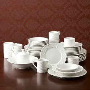Pfaltzgraff Traditions Weave Dinnerware Set, 40 Piece, Service for 8