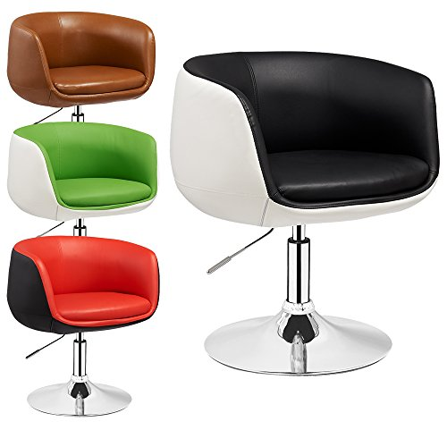 Lounge-Sessel-Herbert-2-farbig-hhenverstellbar-Clubsessel-Barstuhl-Cocktailsessel-Retro-Drehstuhl-viele-Farben-Schwarz-Wei