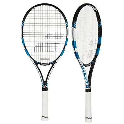 Babolat 101238-146 Pure Drive Team Unstrung Tennis Racquet, 4 3/8 (Black/Blue)