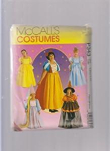 McCall's Costumes P343 or 8895 Halloween Rapunzel Cinderella Snow White Witch Belle Disney Princess