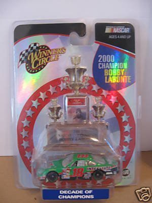 Bobby Labonte #18 2000 Champion Decade of Champions Interstate Batteries Pontiac Grand Prix 1/64 Scale Winners Circle - 1