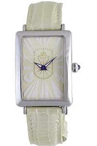 Gio Monaco Women's 237-A Angelo LII Rectangular Beige Dial Alligator Leather Watch