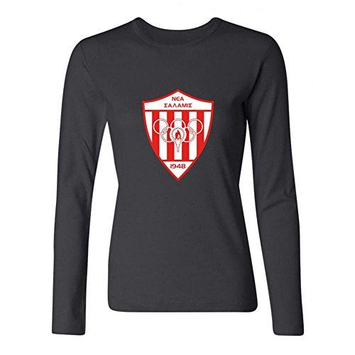 ZHENGXING Women's Nea Salamis Famagusta Football Club Logo Long Sleeve T-shirt M ColorName