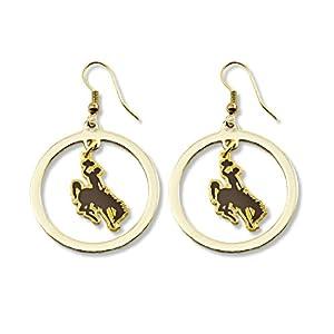 Buy NCAA Wyoming Cowboys Floating Logo Hoop Earrings by aminco