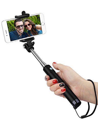 best mini bluetooth selfie stick for iphone 6 iphone 6 plus 6 5 5s 5c 4s samsung galaxy s6 and. Black Bedroom Furniture Sets. Home Design Ideas