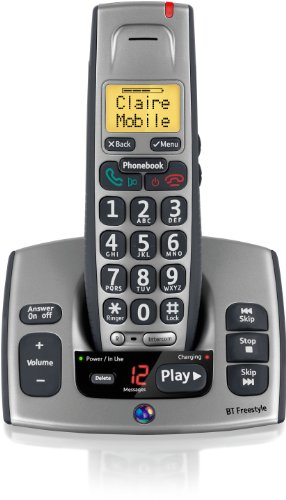 BT Freestyle 750 Single DECT TAM Phone - Titanium Grey
