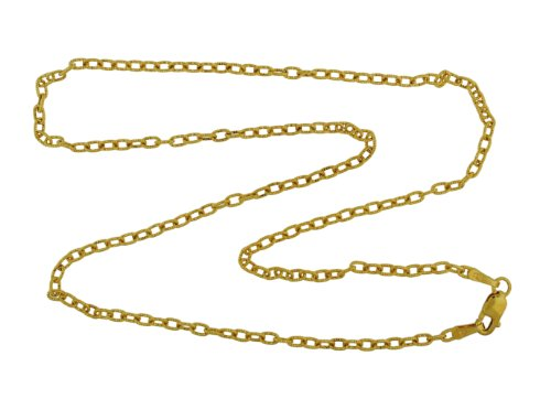 9ct Yellow Gold Mini Twist Oval Belcher Chain 40cm