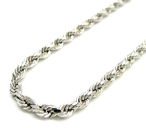 10K-White-Gold-Rope-Chain-Diamond-Cut-Chain-Pendent-Necklace-5-MM-18-to-24-24