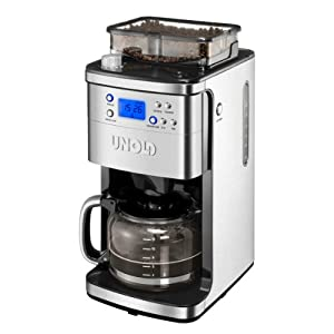 Unold Coffee Maker Grinder, 1.5 Litre, 1050 W, Stainless Steel/Black: Amazon.co.uk: Kitchen & Home