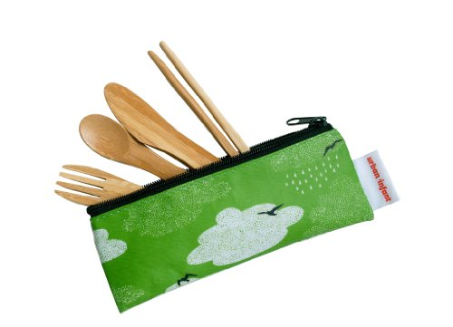 Urban Infant Kids Bamboo Utensil Pouch - Cloud