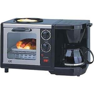 Sunpentown BM-1107 Stainless-Steel 3-in-1 Breakfast Maker