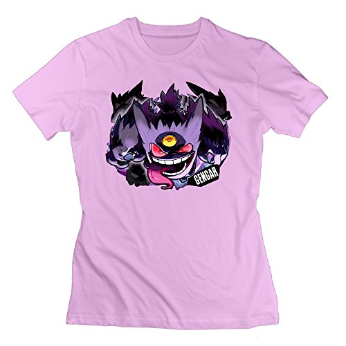 Texhood Women's Gengar Family Pink Tshirts SizeXXLO-Neck (Barbie Dream House Dvd compare prices)