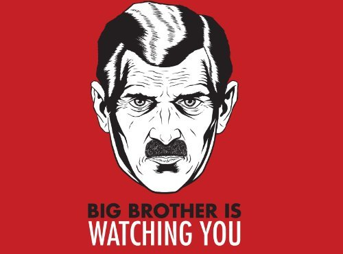 BIG BROTHER IS WATCHING YOU GLOSSY POSTER PICTURE PHOTO 1984 movie funny lol by ConversationPrints [並行輸入品]