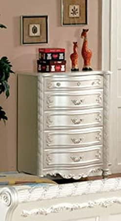 5 Drawer Chest in Pearl White by Furniture of America