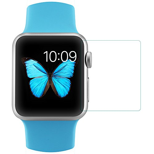 MYLB 0.33mm 9H Premium Tempered Glass Screen Protector for Apple iphone,iphone 4,iphone 5,iphone 5c,iphone 6,iphone 6s,iphone 6 plus,iphone 7...Apple ipad 2,ipad 3,ipad 4,ipad air,ipad air 2,ipad mini,ipad mini 2,ipad mini 3,ipad mini 4...ipod 5,ipod 6..apple watch(42mm),Apple watch(38mm)...(Transparent) (Apple watch(38mm))