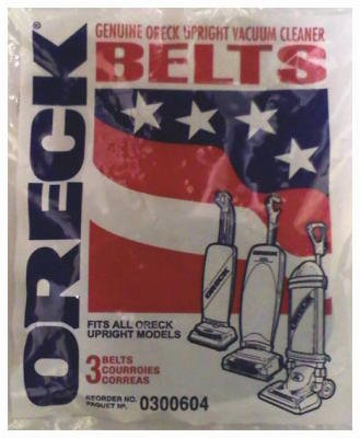 Oreck Commercial 030.0604 3-Pack Oreck Vacuum Belts