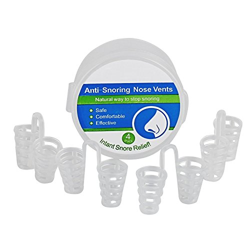 Fund Instant Snore Relief Natural Nose Vents To Ease Breathing and Snoring Pack of 4 Travel Case (Nasal Inserts compare prices)