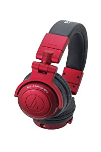 Audio Technica ATH-PRO500MK2BK Professional DJ Monitor Headphones-Red