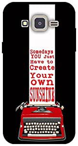 The Racoon Lean Sunshine hard plastic printed back case for Samsung Galaxy J2