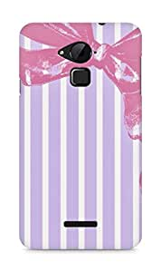 Amez designer printed 3d premium high quality back case cover for Coolpad Note 3 (purple pink bow)