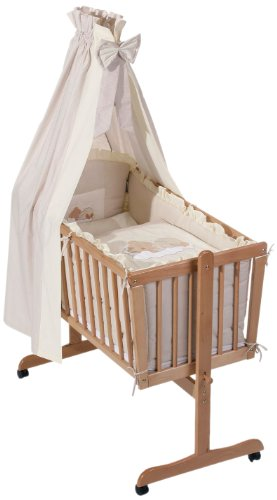 Easy Baby 480-83 - Sleeping Bear Set biancheria per lettino, colore: Beige