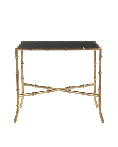 Safavieh Chandler Accent Table, Black/Gold
