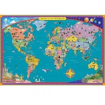 Eeboo World Map - Paper Box (World Wall Map For Kids compare prices)