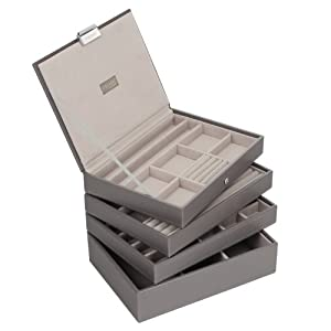 **SPECIAL OFFER** Stackers Jewelry Box Storage System - Hot Pink Color with Soft Lined Interior - 4 Tray Set By LC Designs of London from LC Designs