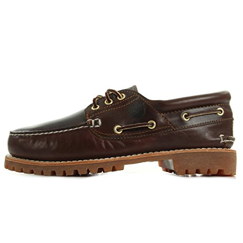 Timberland Authentics 3 Eye Classic, Scarpe da Barca Uomo, Marrone (Brown Pull Up), 43 EU