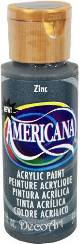 DecoArt Americana Mehrzweck-Acrylfarbe, 59 ml, Zinc