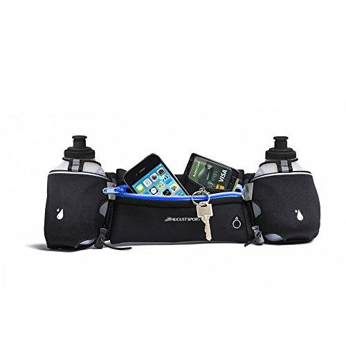 Ideale per Running con sistema di idratazione ®-Cintura per 2 borracce:#1 raccomandato per carburante da cintura per uomo e donna, per escursionismo, Marathons tasche, per iPhone 6 Plus/6S