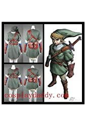 The Legend of Zelda Link Cosplay Costume Green Outfit