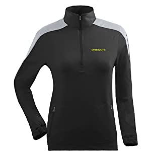 Antigua Ladies Oregon Ducks Succeed Front Fleece Half-Zip Pullover by Antigua