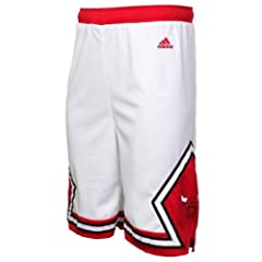 Buy Chicago Bulls NBA Youth Replica Home Shorts White by adidas