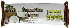 Oskri Coconut Bar, Original, Gluten Free, 1.9-Ounce Bars (Pack of 20)