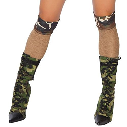 Sexy Camo Army Girl Stockings Halloween Accessory