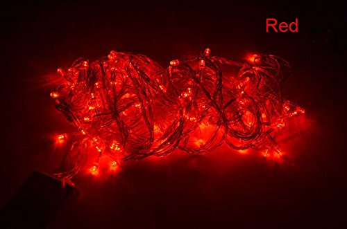 Royoled 10M 100 Led String Fairy Light For Wedding,Christmas,Party, Holiday(With Tail Plug) (Red)