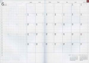 A5 月間ブロック 見開き フラットダイアリー【紺】<2012年10月から2014年1月対応> 27