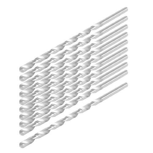 4 x 120 mm, a gambo dritto, HSS, Set di punte a tazza per trapano, 10 pezzi