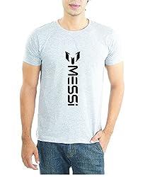 LaCrafters Mens Tshirt - Football tshirts - FC Barca tshirts, FC Barcelona tees, Barca tshirts, Messi tshirts_Grey_Small