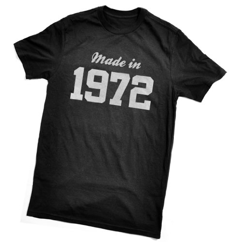 Made in 1972 T-Shirt - fun birthday gift - wrapping